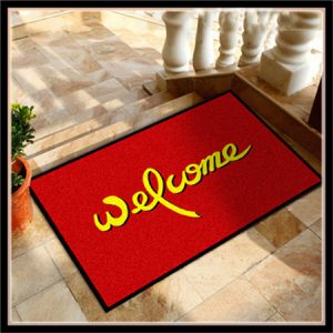 Rubber backing door mat entrance mat