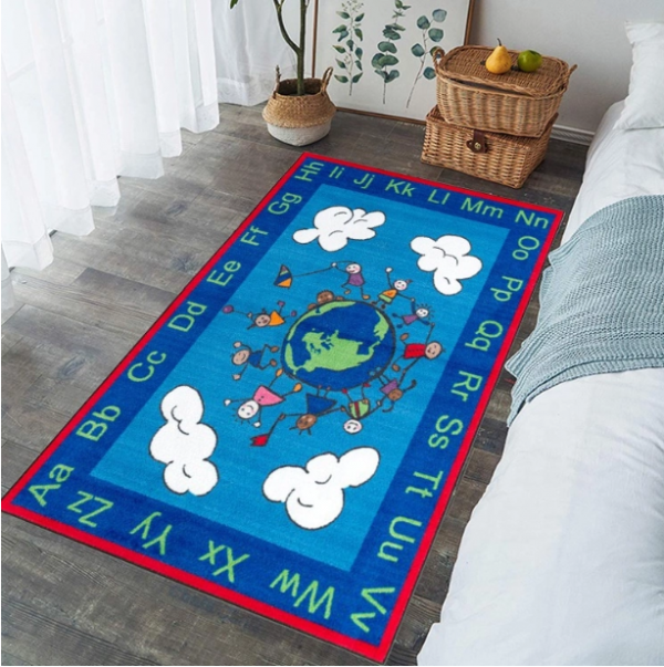 Kids Alphabet Learning Play Happy World Kids Rug for study room