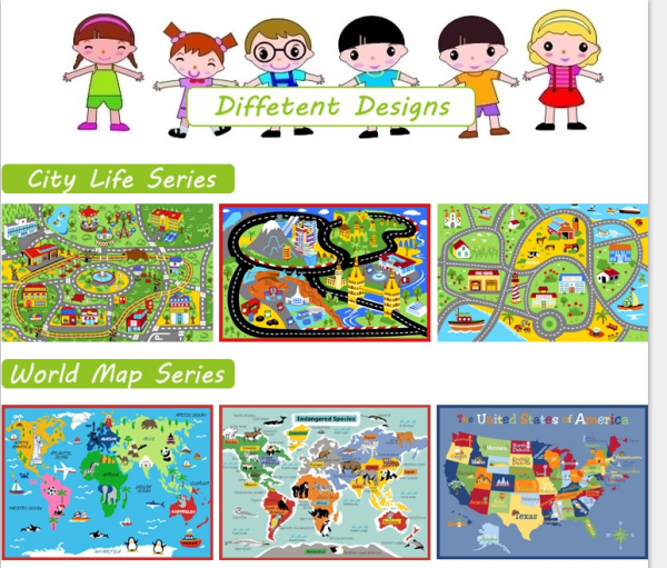 different designs for baby rug